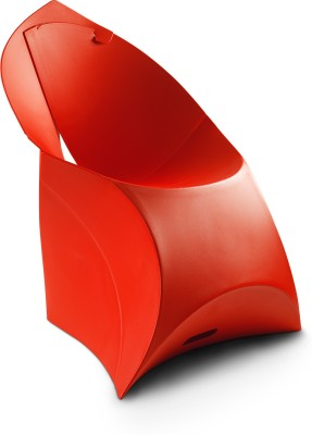 Flux Plastic Living Room Chair(Finish Color - Classic Red)