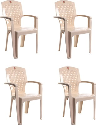 Cello Plastic Living Room Chair(Finish Color - Beige)