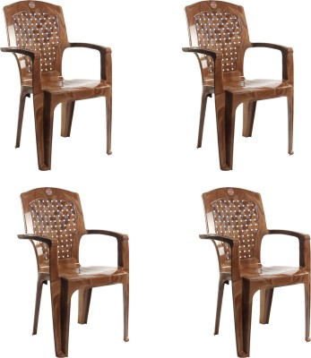 Cello Plastic Living Room Chair(Finish Color - Sandalwood Brown)
