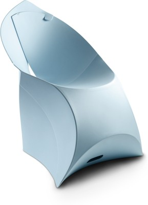 Flux Plastic Living Room Chair(Finish Color - Ice Blue)