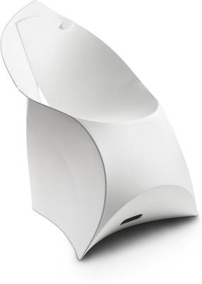 Flux Plastic Living Room Chair  (Finish Color - Pure White)