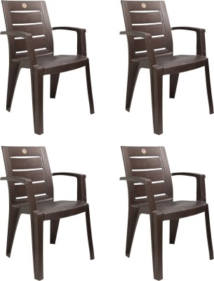 Cello Plastic Living Room Chair(Finish Color - I-Brown)