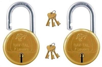 Godrej Navtal 7 Levers Hardened Lock(Gold)