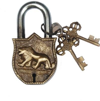 Aakrati Aakrati Handicraft of Lion Figure Padlock(Brown)