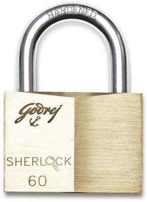 Godrej Sherlock 60 mm (Blister)- Set of 2 Padlock(Gold)