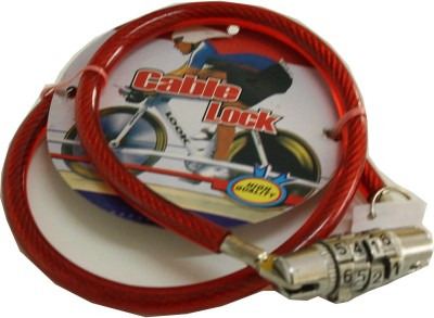 Gol Cable lock lock(Red)  available at flipkart for Rs.99