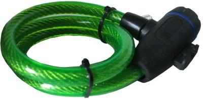 Adraxx Unique Copyproof Keys + Cable Lock(Green)