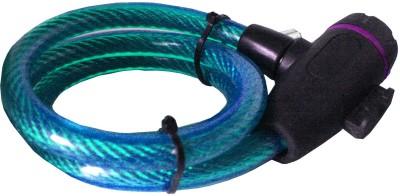 Adraxx Unique Copyproof Keys + Cable Lock(Blue)