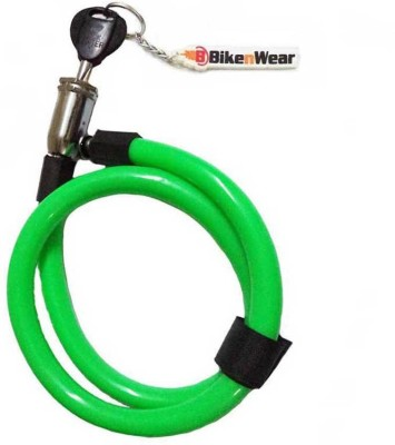 ERCO Multi-Purpose Spiral Green Cable Lock(Green)