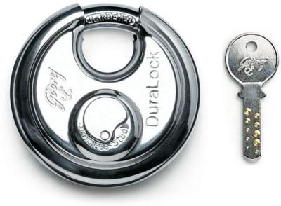 Godrej Dura - 3 Keys (90 mm) Padlock(Silver)