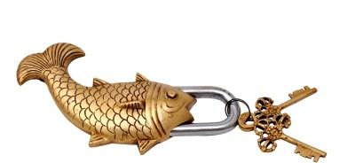 Handecor Golden Fish Design Functional Padlock