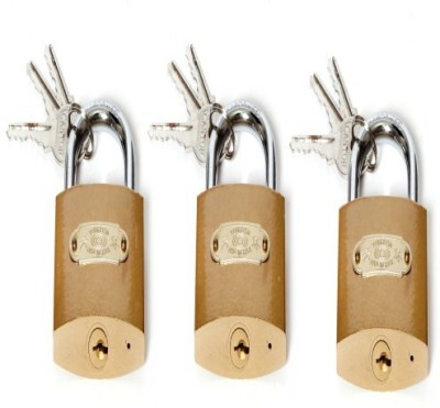 SGB 75mm Pack Of 3 Lock(Gold)