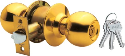 Godrej Cylindrical - Brass Finish - Premium Lock(Gold)