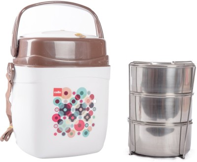 Cello 134611 3 Containers Lunch Box(750 ml)