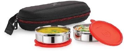 Cello Cello Max Fresh Super Steel 2   Red 2 Containers Lunch Box 350 ml Cello Lunch Boxes