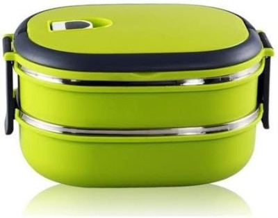 Gade Double Layer Stainless Steel Handle 2 Containers Lunch Box(1400 ml)
