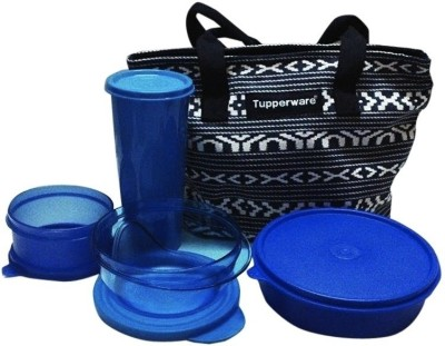 Tupperware New Best Trendy Stylo 4 Containers Lunch Box(1610 ml)  available at flipkart for Rs.1129