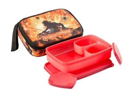 Signoraware Rock DJ  Compact Lunch with Bag 3 Containers Lunch Box 1050 ml