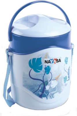 NAYASA Zeal Blue 2 Containers Lunch Box 700 ml NAYASA Lunch Boxes