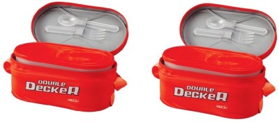 Milton DOUBLE DEKER 3 Containers Lunch Box(500 ml) at flipkart