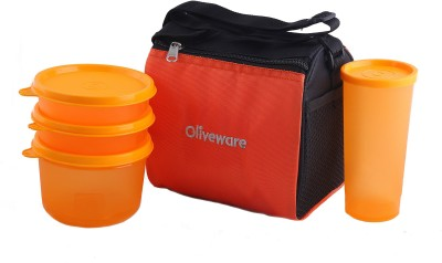 6a13e9da563 17% OFF on Oliveware Quick Carry Lunch Bag 4 Containers Lunch Box(250 ml