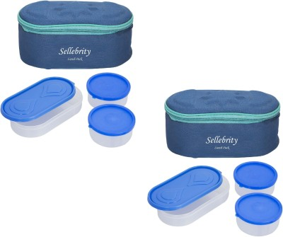 Sellebrity Combo Browny Blue 6 Containers Lunch Box(1300 ml) at flipkart