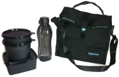 Tupperware Satchel Lunch Bag with 4 Containers Lunch Box 4 Containers Lunch Box 500 ml