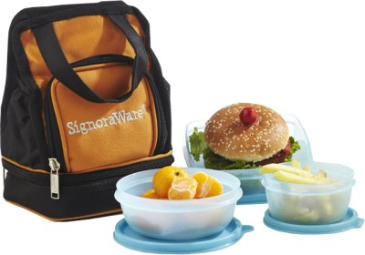 Signoraware 536 3 Containers Lunch Box 850 ml