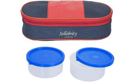 Sellebrity Executive Royal Red Blue 2 Containers Lunch Box(400 ml) at flipkart