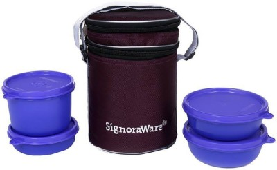 Signoraware Perfect Lunch Box With Bag 4 Containers Lunch Box 1230 ml