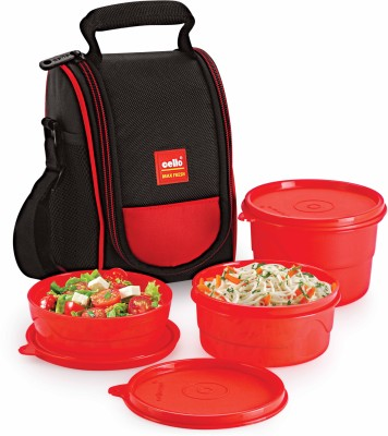 Cello Max Fresh 3 Containers Lunch Box(550 ml)