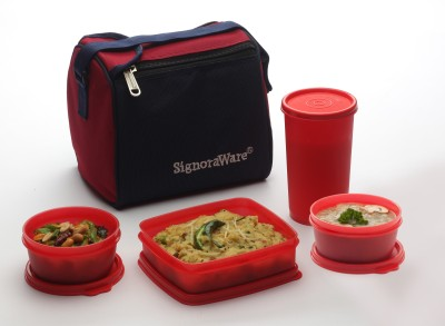 Signoraware 513 Best Lunch with Bag 4 Containers Lunch Box(1050 ml)