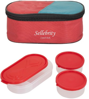 Sellebrity Executive Red 3 3 Containers Lunch Box(650 ml) at flipkart