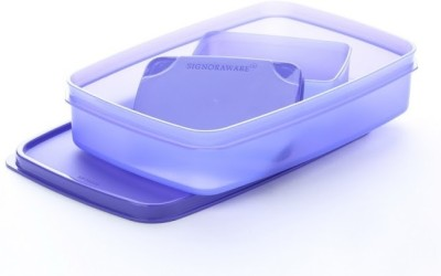 Signoraware Easy Lunch Box   Violet 2 Containers Lunch Box 850 ml