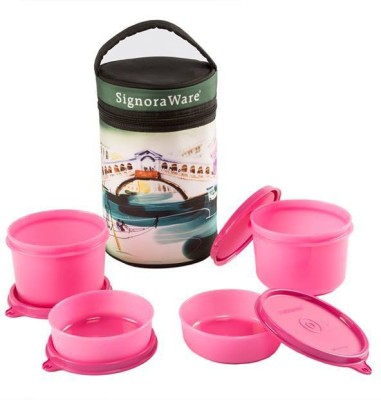 Signoraware Venice Executive Big with Bag 4 Containers Lunch Box(1260 ml)