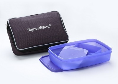 Signoraware Easy Lunch with Bag - Violet 2 Containers Lunch Box(850 ml)  available at flipkart for Rs.390