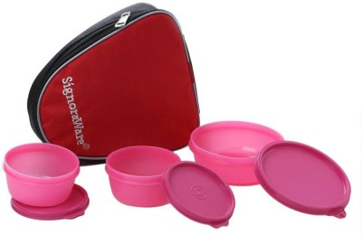Signoraware Sleek With Bag 3 Containers Lunch Box 700 ml  Signoraware Lunch Boxes