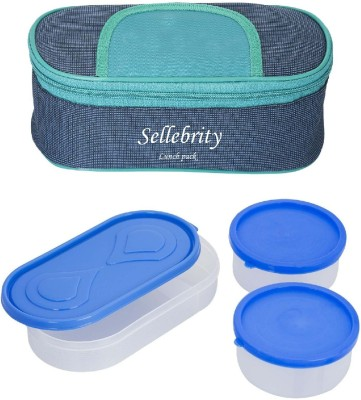 Sellebrity Executive Solace Blue Green 3 Containers Lunch Box