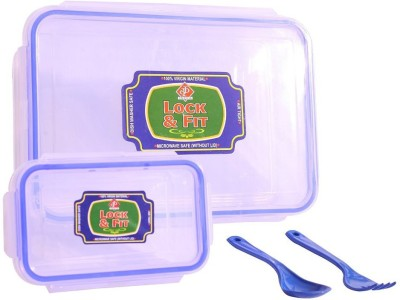 SKI lun1501 2 Containers Lunch Box(600 ml) at flipkart