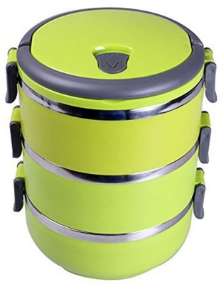 Komfort Easy Lock Stainless Steel Lunch Box - Triple Layer 3 Containers Lunch Box(2100 ml) at flipkart