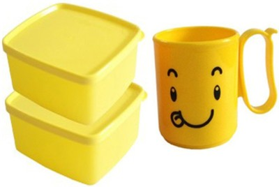 Tupperware Cool N Fresh Mood 3 Containers Lunch Box(1600 ml)  available at flipkart for Rs.200
