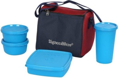 Signoraware Signoraware Best Lunch Jumbo (with Bag) 4 Containers Lunch Box 4 Containers Lunch Box(900 ml)