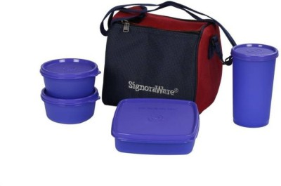 Signoraware Signoraware lujoso Best Lunch Box (with Bag) 4 Containers Lunch Box 4 Containers Lunch Box(900 ml)