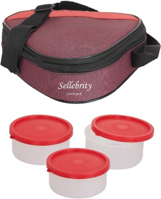 Sellebrity Executive Triangle Blue 3 Containers Lunch Box 600 ml
