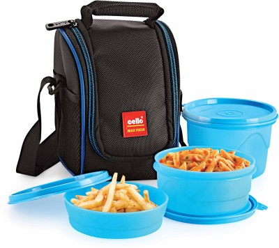 Cello CMF000000 3 Containers Lunch Box(550 ml)