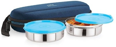 Cello Cello Max Fresh Super Steel 2 - Blue 2 Containers Lunch Box(350 ml)