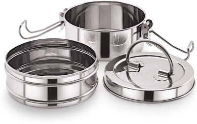 Neelam Stainless Steel Tiffin Sada, 8x2 2 Containers Lunch Box 1000 ml Neelam Lunch Boxes