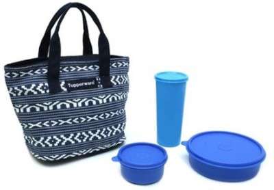 Tupperware True Blue 3 Containers Lunch Box