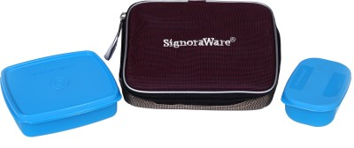 Signoraware Twin Smart 2 Containers Lunch Box 490 ml