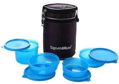 Signoraware perfect Lunch Box with Bag 4 Containers Lunch Box(1230 ml)